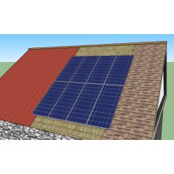 Sestava pro střechu šikmou; krytina plech, šindel, etc.
