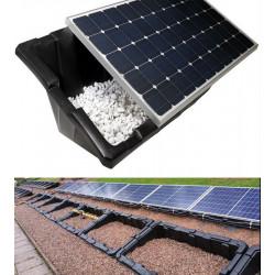 """Sestava pro rovnou střechu; panely na plastových vaničkách """"renusol console 15°"""""""