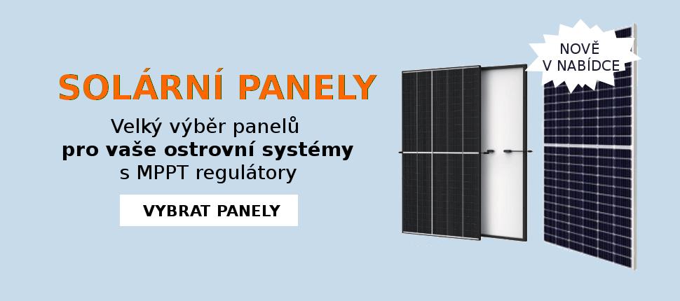 Solární panely nově v nabídce